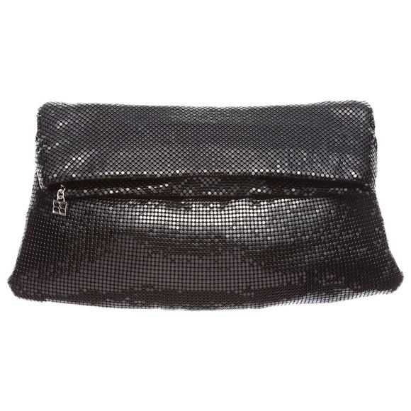 BCBGMaxAzria Handbags - BCBGMaxazria Brighton black mesh clutch bag New